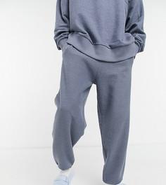 Oversized-джоггеры угольного цвета с петельчатой изнанкой от комплекта COLLUSION-Серый