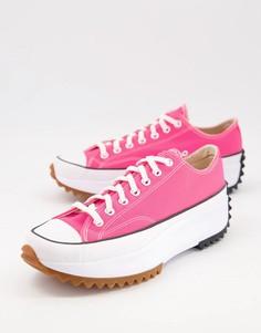 Розовые кроссовки Converse Run Star Hike Ox-Розовый цвет