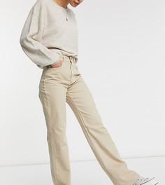 Винтажные джинсы в стиле 90-х песочного цвета Stradivarius Tall-Бежевый