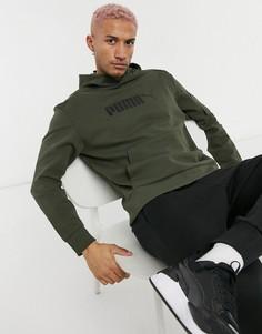 Зеленый худи в стиле милитари PUMA-Зеленый цвет