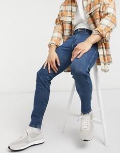 Темно-синие зауженные джинсы Wrangler Bryson-Голубой