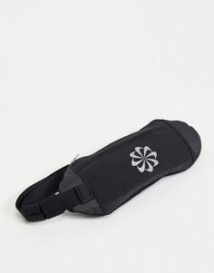 Черная сумка на пояс Nike Running Challenger-Черный цвет