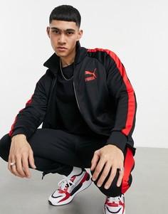Черная спортивная куртка PUMA T7-Черный цвет