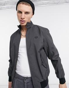 Серая меланжевая куртка харрингтон Fred Perry-Серый