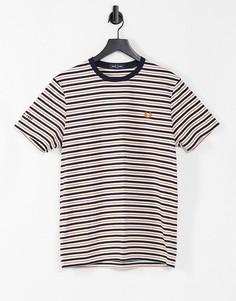 Белая футболка в тонкую полоску Fred Perry-Белый