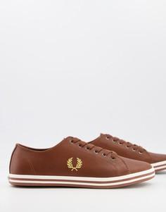 Светло-коричневые кожаные кроссовки Fred Perry B7163 Kingston-Коричневый цвет