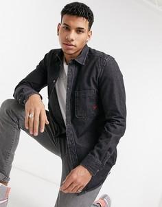 Рубашка с длинными рукавами Diesel D-Billy-Черный цвет