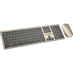 Комплект клавиатуры и мыши Jet.A Jetaccess Slim Line KM41 W золотой-чёрный