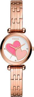 fashion наручные женские часы Fossil BQ3697. Коллекция Tillie Mini