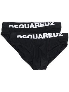 Dsquared2 комплект из двух трусов с логотипом