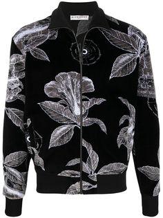 Givenchy бархатная спортивная куртка с цветочным принтом