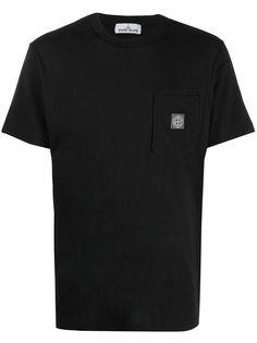 Stone Island футболка с нагрудным карманом и логотипом