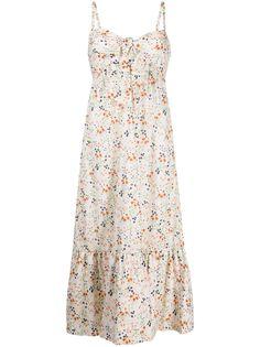 LAutre Chose платье миди с цветочным принтом