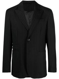 Trussardi полосатый костюм с однобортным пиджаком