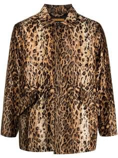 Neighborhood куртка-рубашка с леопардовым принтом