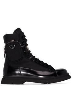 Prada ботинки с клатчем