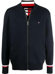 Tommy Hilfiger куртка на молнии с нашивкой-логотипом