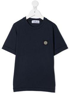 Stone Island Junior футболка с нашивкой-логотипом