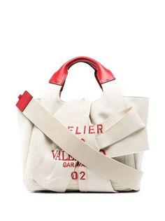 Valentino Garavani сумка-тоут с бантом и принтом Atelier