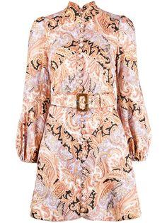 ZIMMERMANN платье с пышными рукавами и принтом пейсли