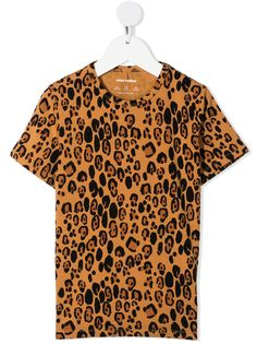 Mini Rodini футболка с леопардовым принтом