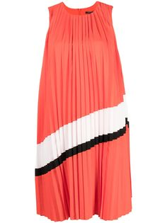 Armani Exchange плиссированное платье миди