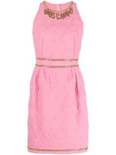 Moschino платье мини с узором