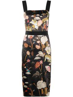 Etro платье миди с цветочным принтом