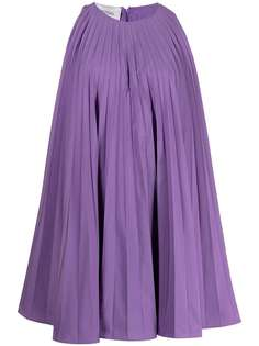 Valentino плиссированное платье мини без рукавов