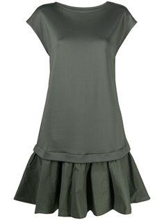 Emporio Armani платье из джерси с рукавами кап