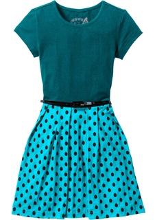 Платье с поясом для девочки Bonprix