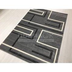 Ковер Silvano Sedna Carving 08446A L.Grey/L.Grey прямоугольный Турция, 1.2х1.7 м