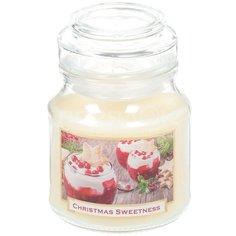Свеча декоративная, 8х7.5 см, Рождественская сладость, в стакане ароматизированная Bartek candles