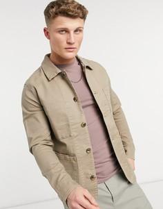 Куртка в рабочем стиле Selected Homme Jackson-Бежевый