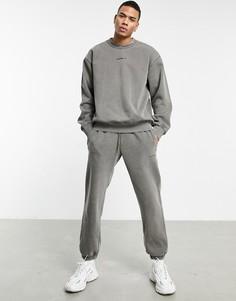 """Окрашенные джоггеры оливково-зеленого цвета adidas Originals """"Premium Sweats""""-Зеленый"""