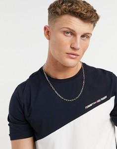 Белая футболка свободного кроя встиле колор блок Tommy Hilfiger Performance-Белый