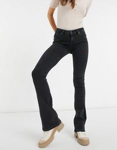 Черные выбеленные джинсы с легким клешем Selected-Черный цвет