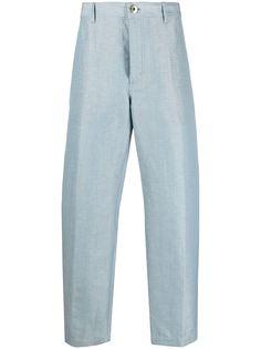 LANVIN прямые брюки средней посадки