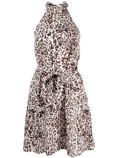 Pinko платье с леопардовым принтом и поясом