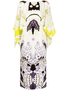 Valentino платье-кафтан Tropical Word Arazzo