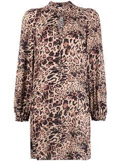 Patrizia Pepe платье с завязками и леопардовым принтом