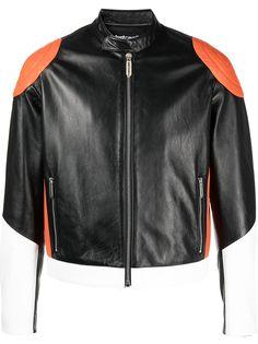 Just Cavalli байкерская куртка в стиле колор-блок