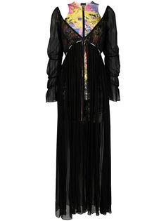 Just Cavalli длинное многослойное платье