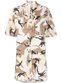 Kenzo платье-рубашка с абстрактным принтом