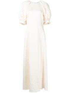 Gabriela Hearst платье Puga с пышными рукавами
