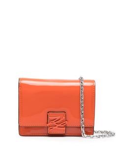 Karl Lagerfeld лакированная мини-сумка на плечо