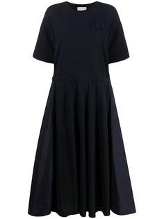 Moncler платье миди с кулиской и вставками