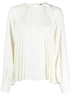 MSGM блузка с длинными рукавами и плиссировкой