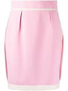 Moschino юбка мини с контрастным подолом