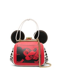Coach сумка Kisslock Mickey Mouse Disney x Keith Haring